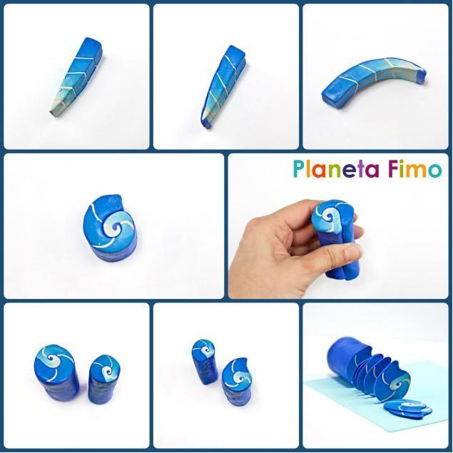 Привет всем! Тема сегодняшнего урока — декорирование стекла полимерной глиной FIMO. Будем украшать солонку с перечницей, а для этого сперва сделаем кейн 'наутилус'. Что нам понадобится: - FIMO двух синих оттенков и двух светло-бежевых; - скалка; - лезвие; - паста-машина (можно обойтись и без нее); - солонки или другие предметы из стекла или металла, которые хотим декорировать (все дел=т…
