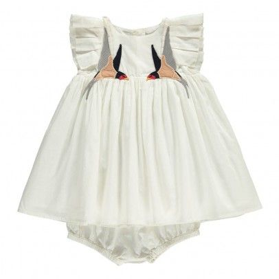 Chick Bird Dress   Bloomers White  Stella McCartney Kids
