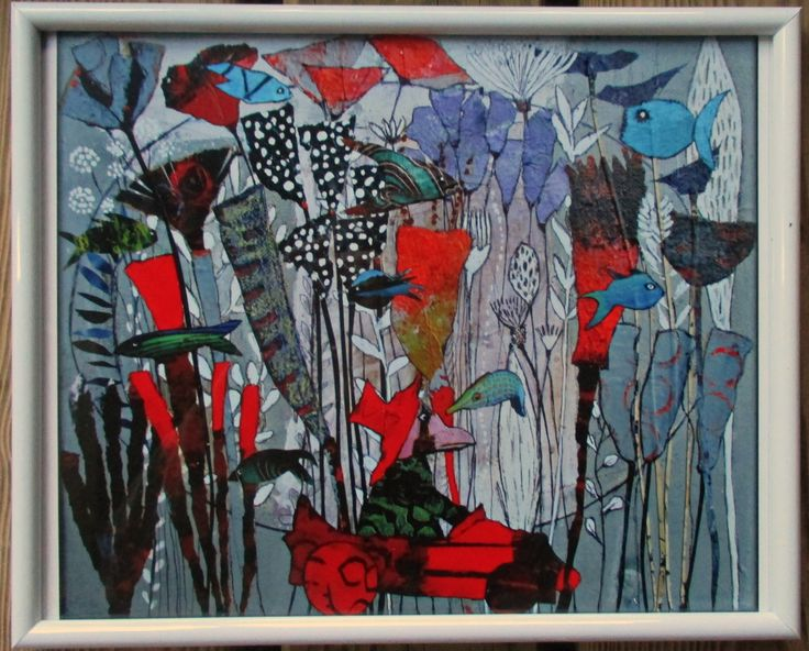 Elke Trittel print of my artwork 20x20cm
