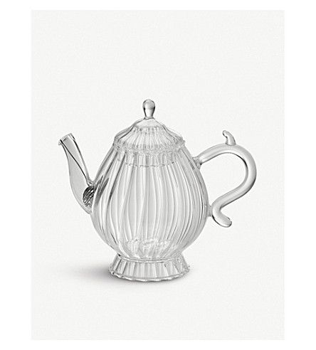 BITOSSI HOME Boro Romantic ridged glass teapot 650ml