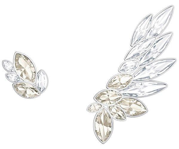 134a78a89c Lake Pierced Earring and Ear Cuff, Grey, Rhodium plating - Jewellery -  Swarovski Online Shop