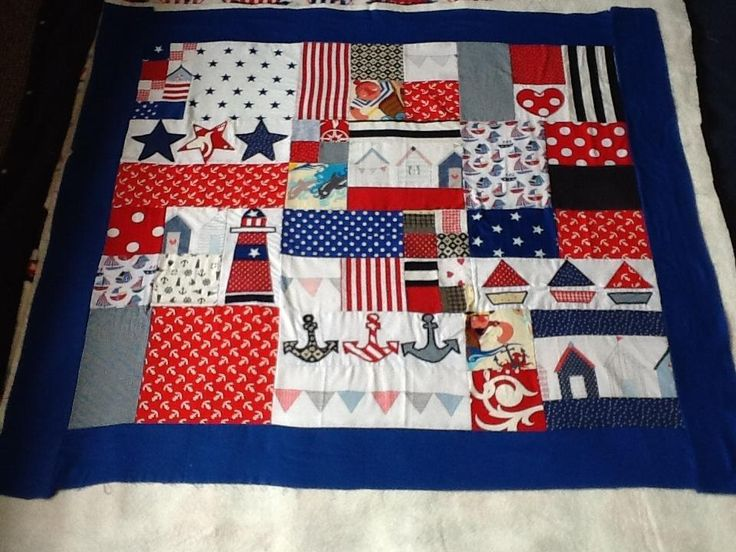 Patriotic Lap Quilt ~ cute idea!