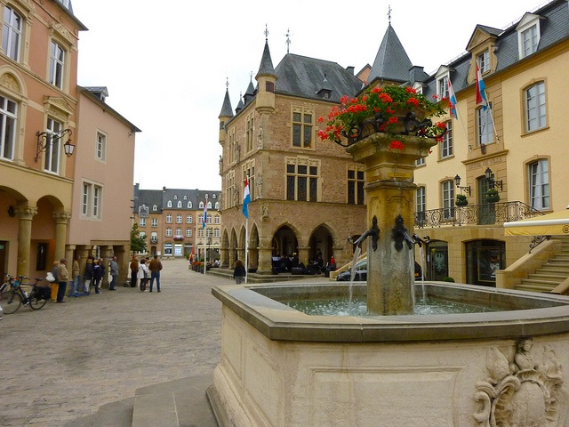 Town square in Echternach, Luxembourg