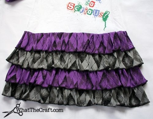 how to sew a ruffled skirt {photo tutorial} by Linda8246