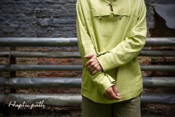 Three Buttons Shirt | Minimalist style shirt.  Unique eco-friendly men's wear by HapticPath.