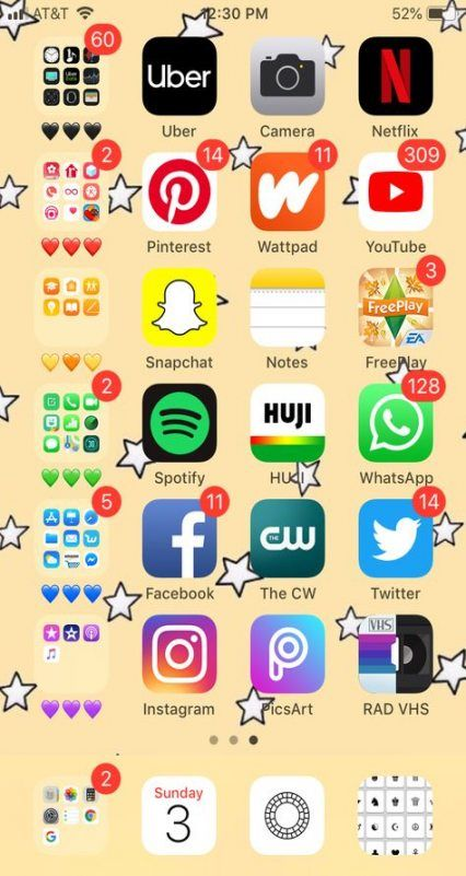 Super Home Screen Organization Iphone Aesthetic Ideas