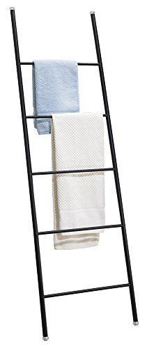 mdesign free standing bath towel bar storage ladder r https