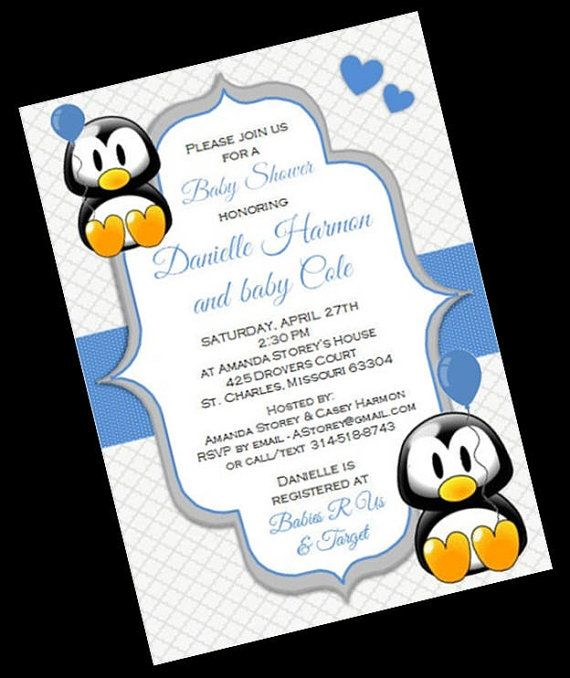 penguin baby showers penguin baby and penguins on pinterest