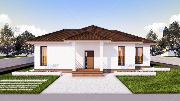 Proiect casa parter (112 mp) - Rovenna. Mai multe detalii gasiti aici: https://www.uberhause.ro/proiect-casa-parter-112-mp-rovenna