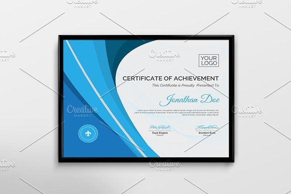 Certificate Of Achievement by Cristal Pioneer on @creativemarket - achievement templates