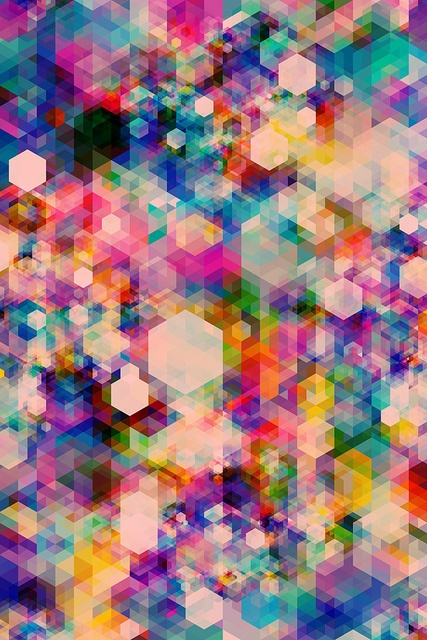 By simoncpage Beautiful hexagonal mixture for a colorful haze. It's not to much but a lot of color