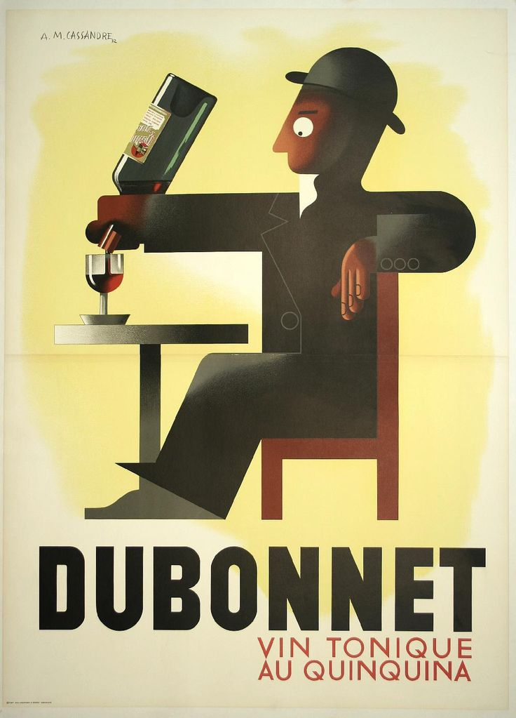 Vintage style Dubonnet posterby Cassandre, one of the best advert poster ever...