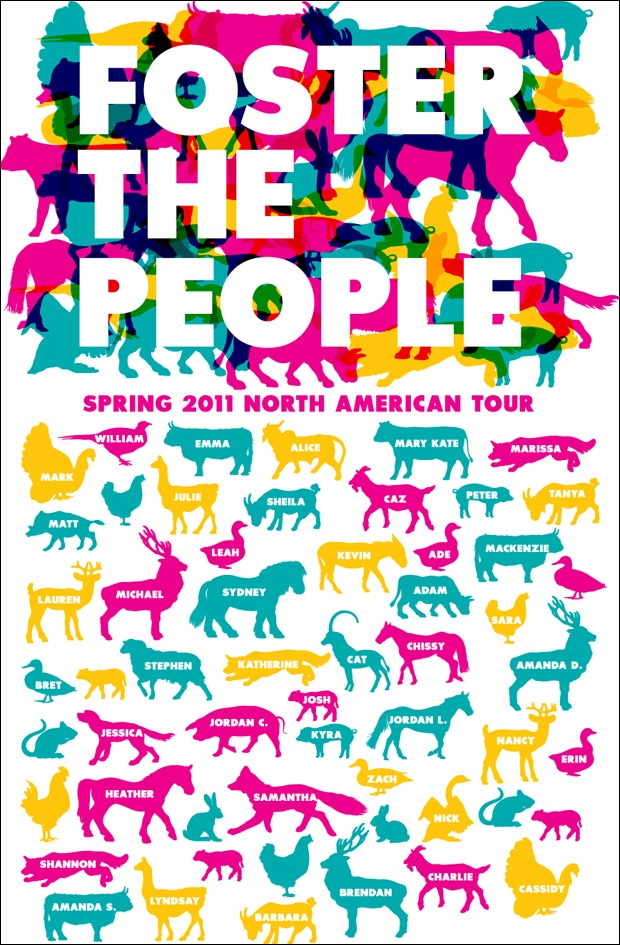 Foster the People concert poster