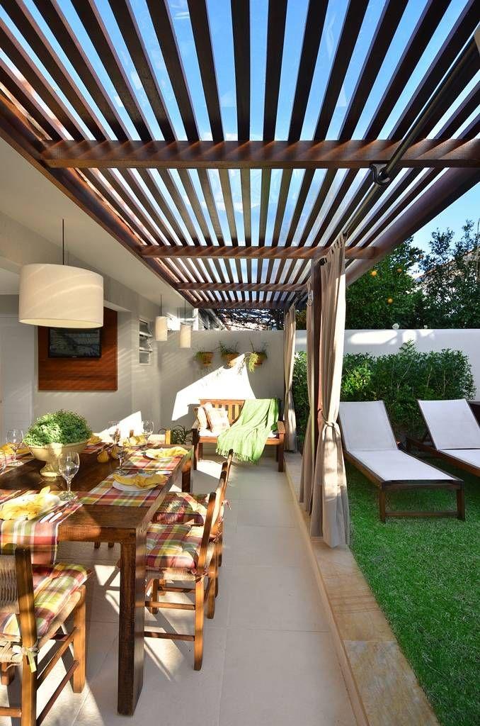 Área de Lazer na cidade : Varandas, alpendres e terraços rústicos por Stefani Arquitetura