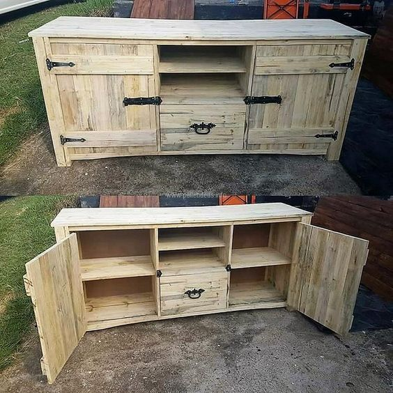 Cheap / Creative / Awesome Wood. Rustic Media CabinetsSide ...