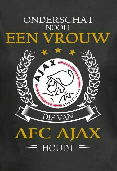 Yeah bay-bee!!! (Never underestimate a woman who loves AFC Ajax!)  ❌❌❌