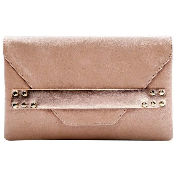 Mango Metallic Clutch Bag , Nude ($14) ❤ liked on Polyvore featuring bags, handbags, clutches, nude, special occasion clutches, beige handbags, envelope clutch bag, evening clutches and evening purse
