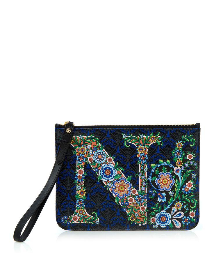 Alphabet Iphis-Print Wristlet Bag