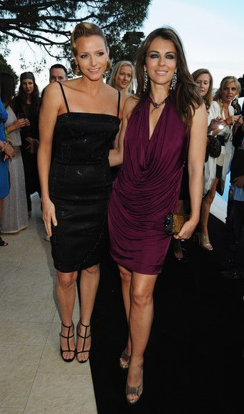 Charlene Wittstock and Elizabeth Hurley - Martini At Amber Fashion Lounge