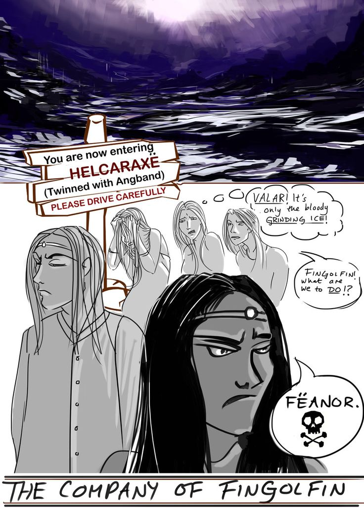 Silmarillion-fingolfin crossing the Helcaraxe by HecticRed ...