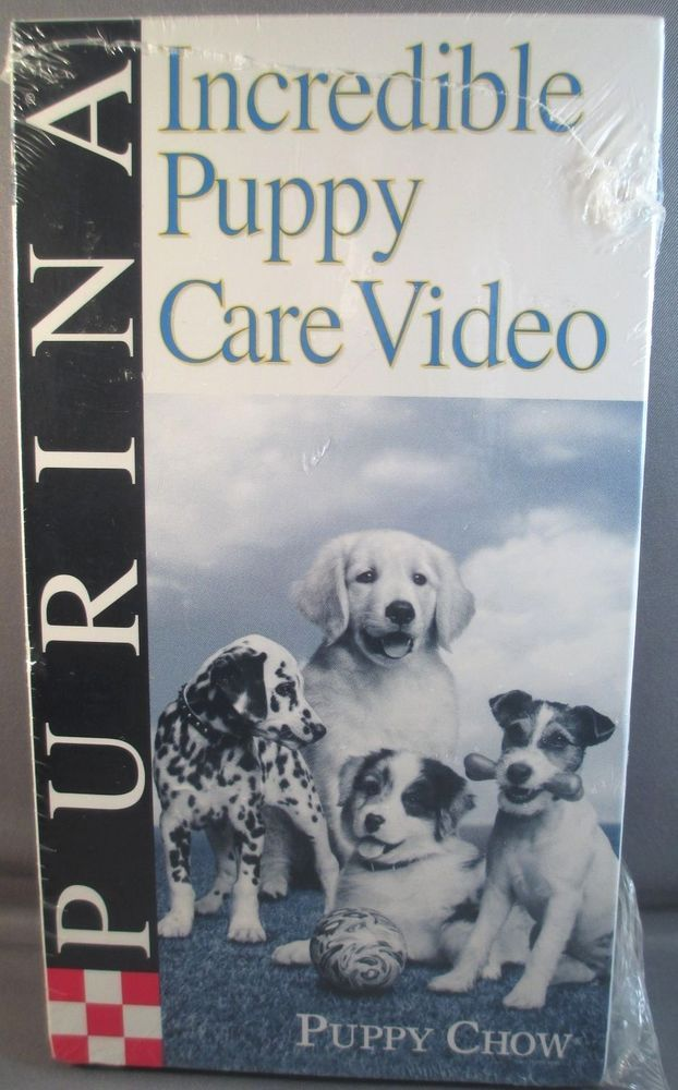 Incredible Puppy Care Video VHS Sealed Purina Puppy Chow General Care Training