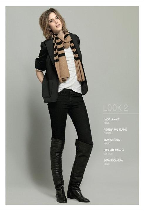 Etiqueta Negra AW11 - Bufanda Rayada  70%wool/30%cashmere - 12gg