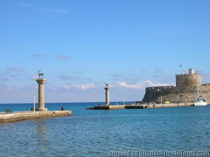 Rhodes Island Greece - New Town - the Mandrake harbor