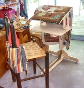 This Is One Of Rug Hooking Frames On A Floor Stand The Frame Can Spin