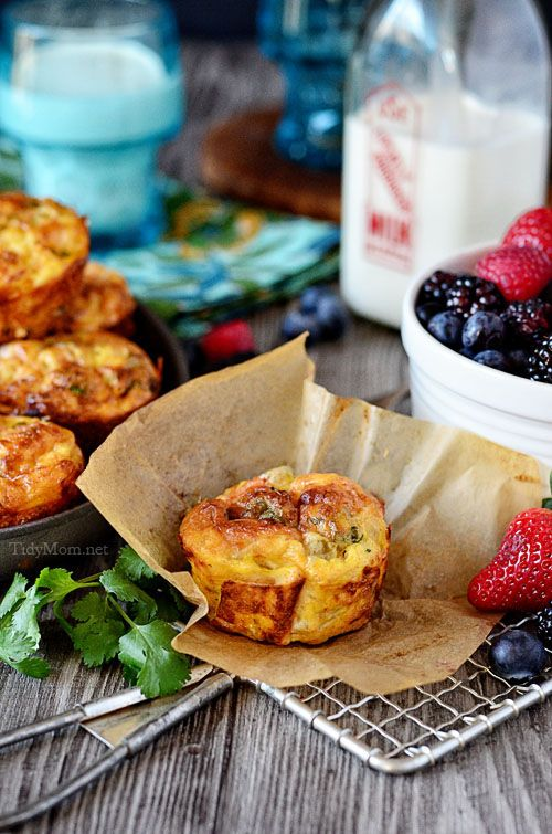 Southwest Baked Egg Cups | Streamlining Morning Routines | TidyMom