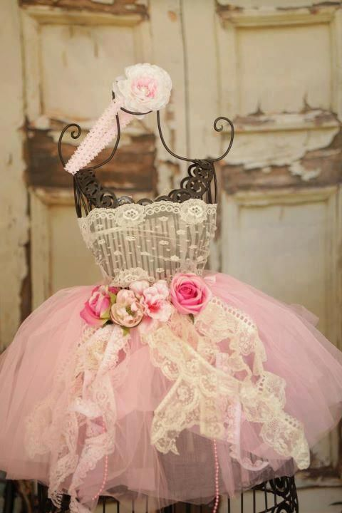 Shabby Chic Dress Prop used to decorate a Shabby Chic First Birthday Celebration!