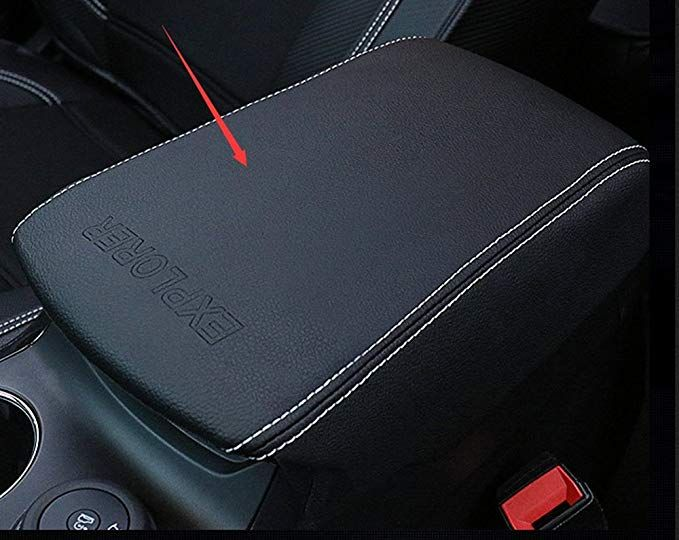 Salusy Center Console Armrest Storage Box Leather Protector Cover For Ford Explorer 2016 2017 Review Leather Protector Ford Explorer Center Console