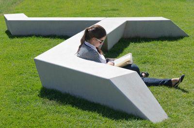 Milenio bench  reinforced stone  exp architects/escofet