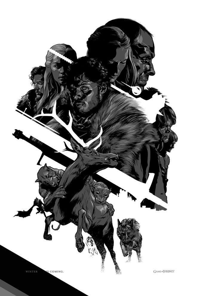 Martin Ansin's Game of Thrones posterMartin Ansin, X Games, Picture-Black Posters, Games Of Thrones, Art Prints, Gameofthrones, Film Posters, Winter Is Come, Game Of Thrones
