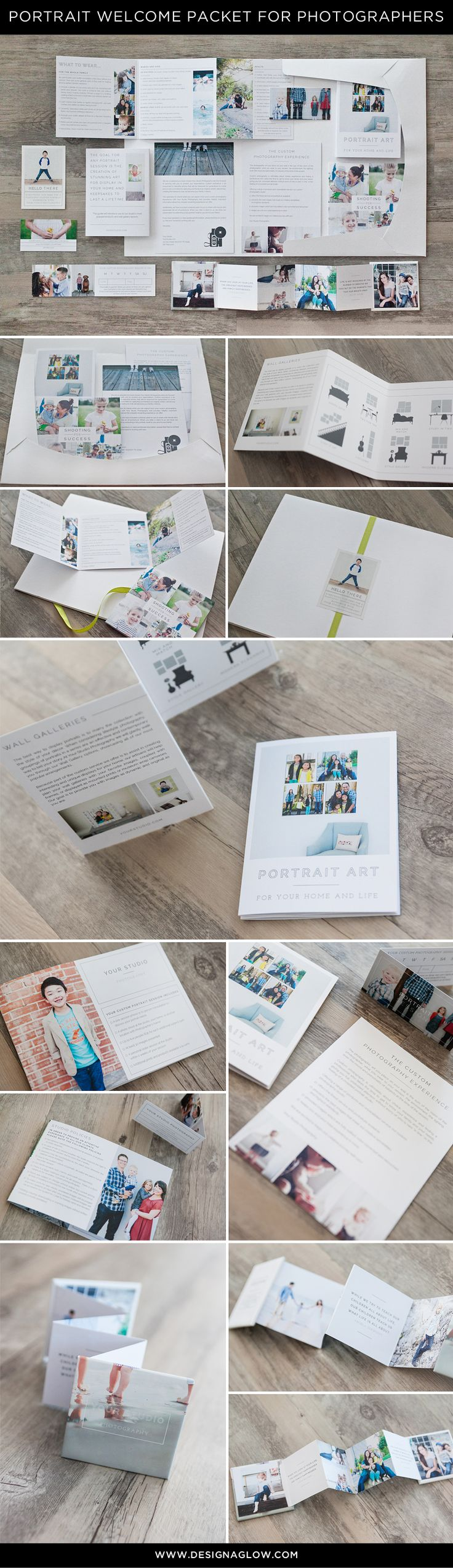 welcome packet for portrait photographers by designaglow