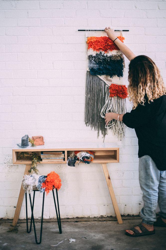 Custom Woven Wall Hanging / Staple & Seed