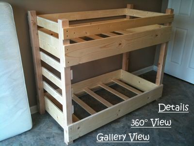 Small, Crib Size, Toddler Bunk Bed Plans