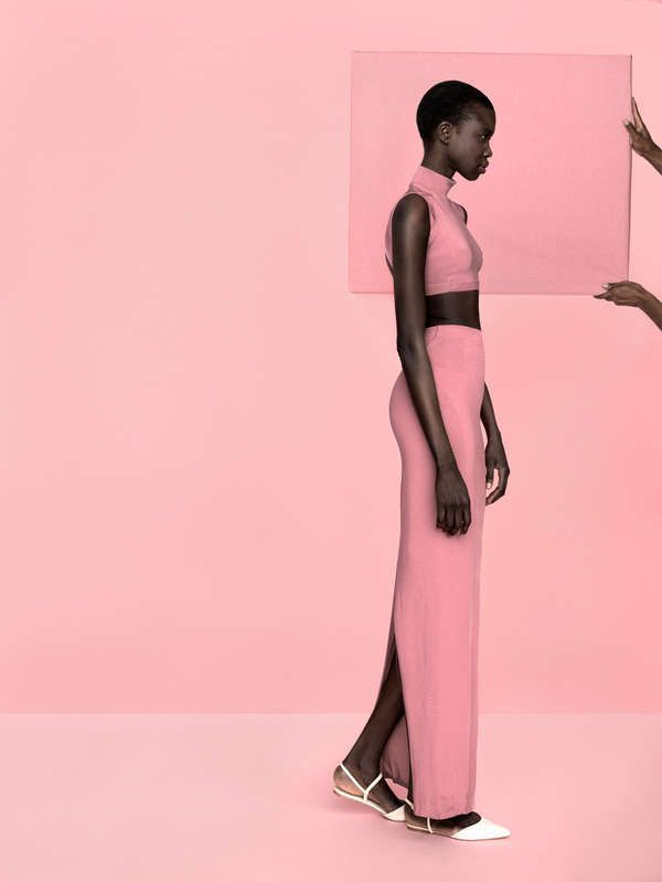 The 'Nhykor in Bloom' Editorial Plays with Color Beautifully trendhunter.com