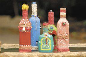 artesanias con botellas de vidrio vacias - Buscar con Google