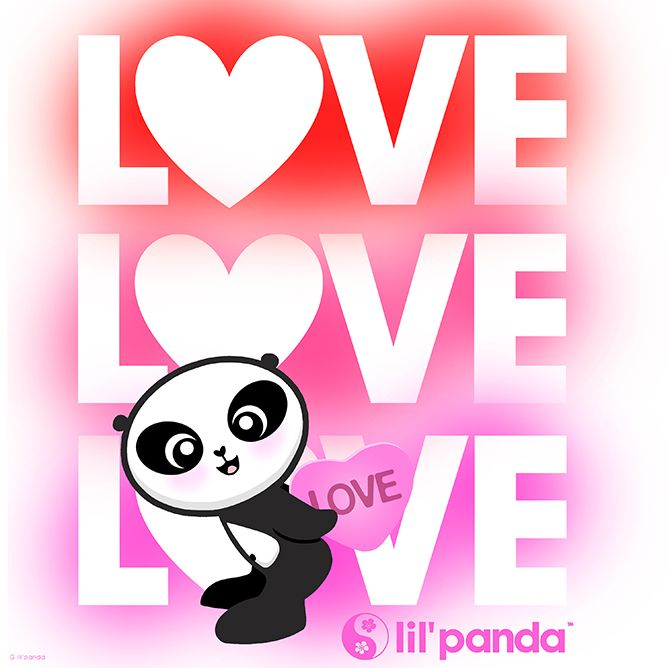 7 best lil\'panda cute Valentine\'s Day images on Pinterest | Panda ...