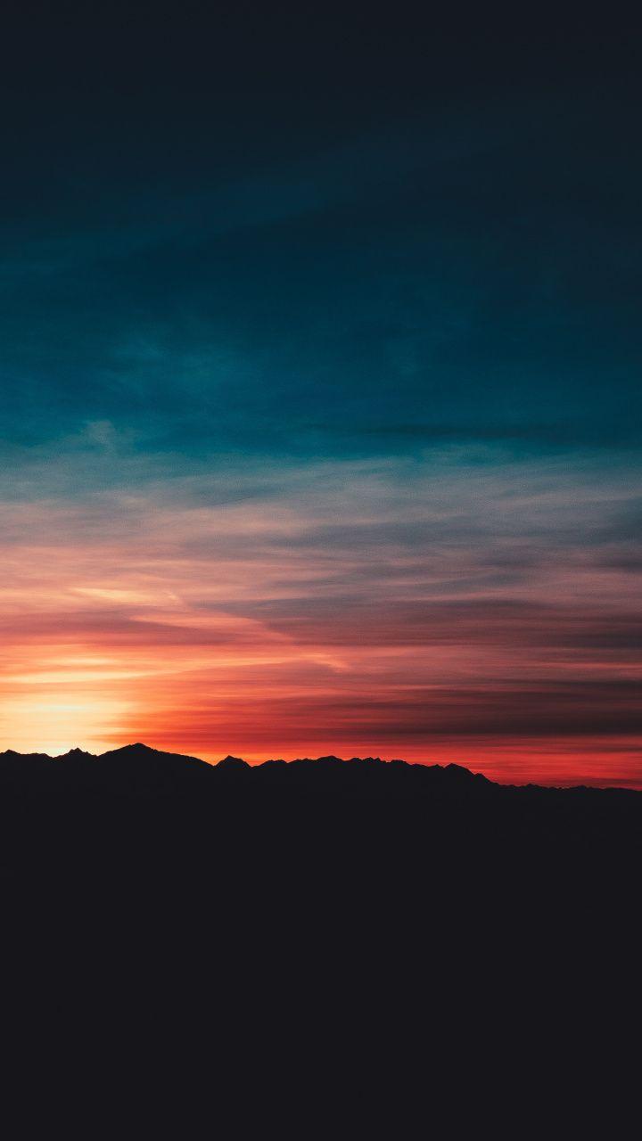 720x1280 Sunset Twilight Skyline Sky Nature Wallpaper Sky Aesthetic Nature Wallpaper Sunset Wallpaper