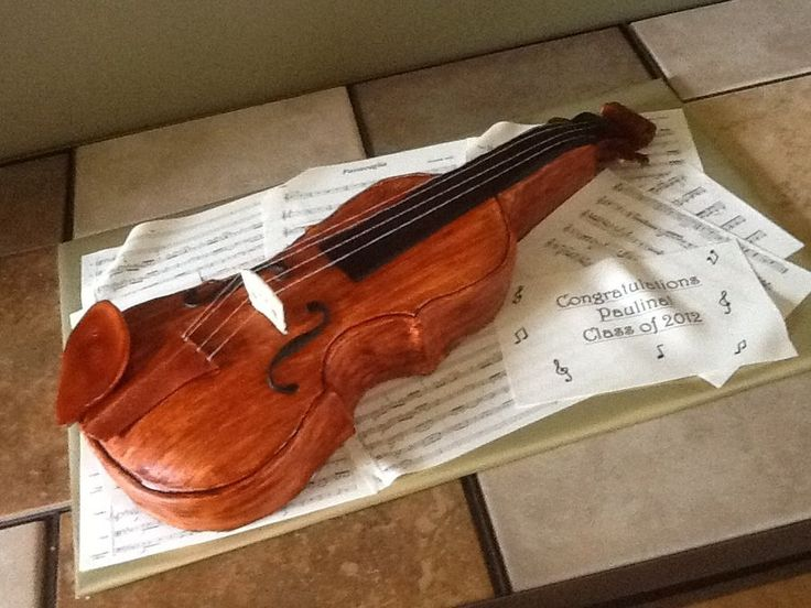 10 Best Birthday Cakes Images On Pinterest Violin Cake