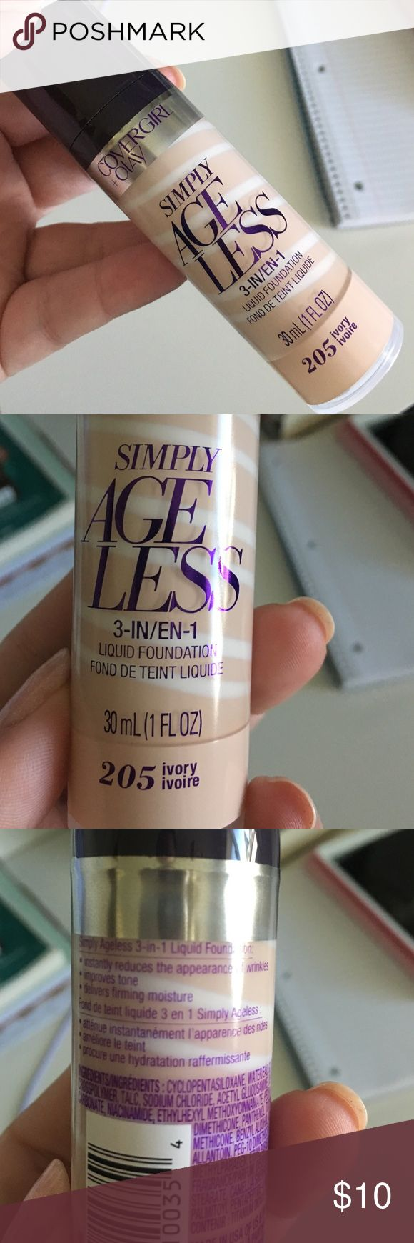 Cover girl simply ageless foundation Shade is 295 ivory, has only been swatched covergirl Makeup Foundation