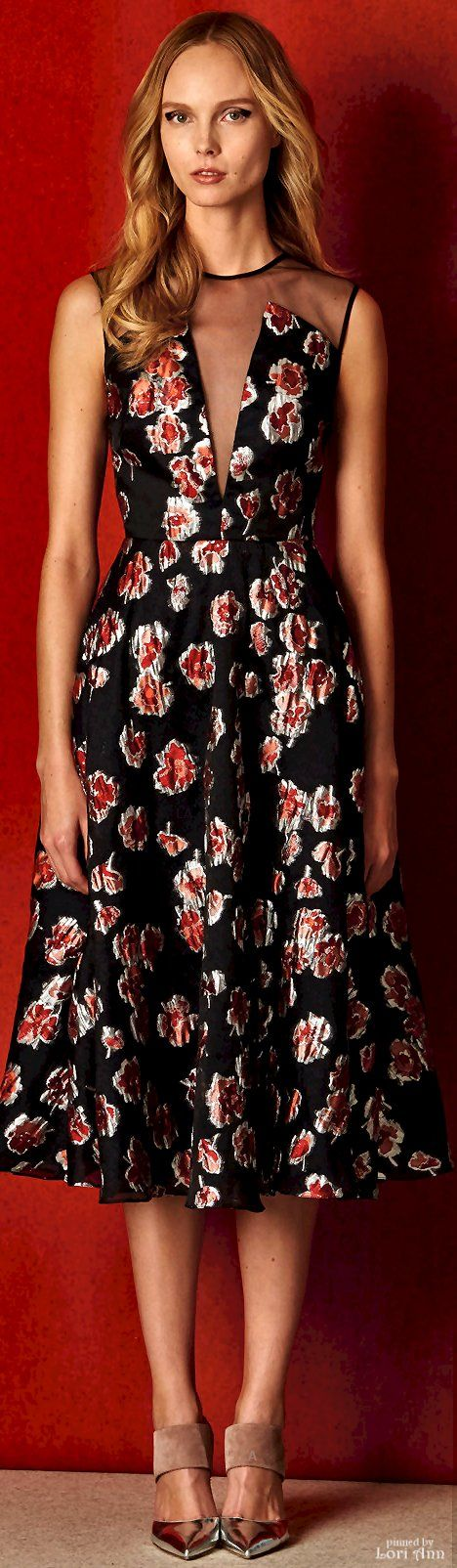 Lela Rose Pre-Fall 2016 women fashion outfit clothing style apparel @roressclothes closet ideas