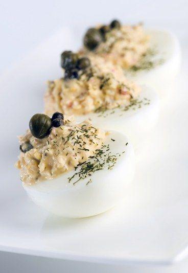 Uova ripiene per l'aperitivo