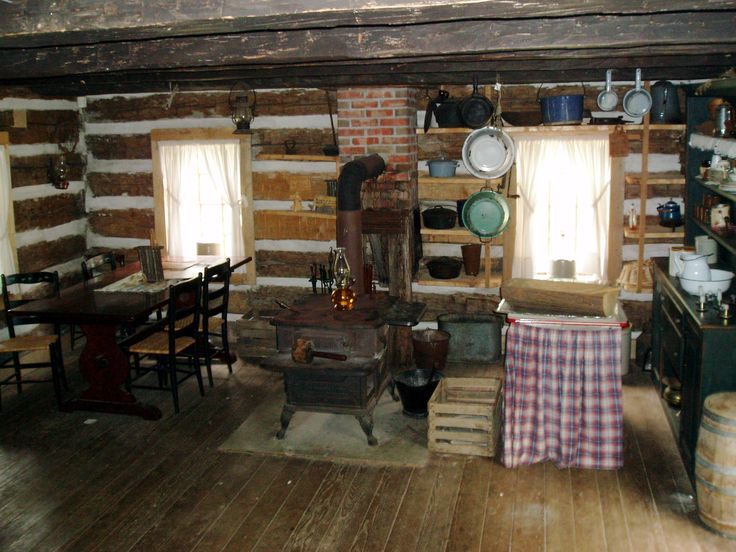 Restored Kitchens In  Log Homes