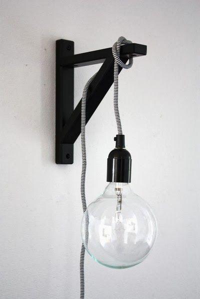 Rondom Stijl: DIY // wandlamp