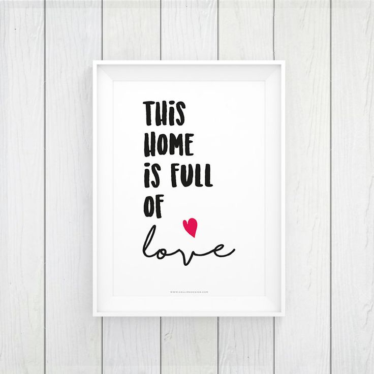 HOME FULL of LOVE printable wall art | nursery WallArt | decoration | instant download by callimadesign on Etsy
