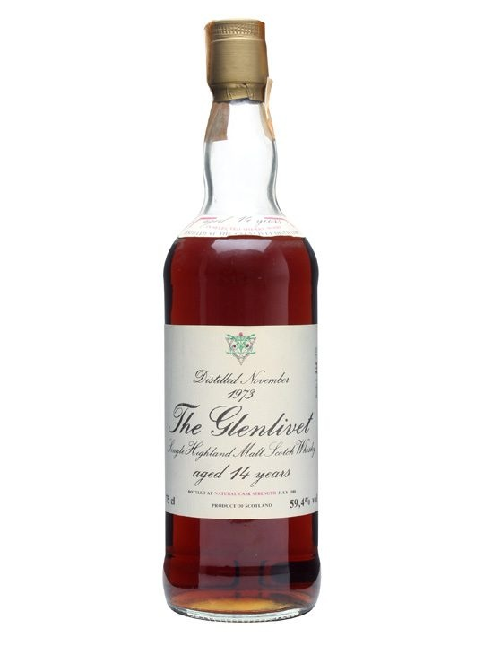 Glenlivet 1973 / 14 Year Old / Sherry Cask : Buy Online - The Whisky Exchange - This 1973 vintage whisky from Glenlivet distillery has been matured for a full 14 years in Sherry wood. Released at cask strength in July 1988 and limited to just 570 bottles.