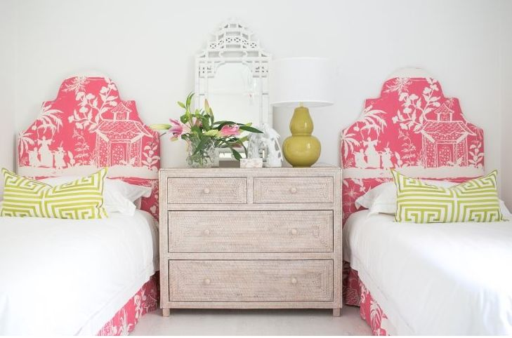 Kristy Lee Interiors Pink and Green Gallerie B #palmbeachpanache