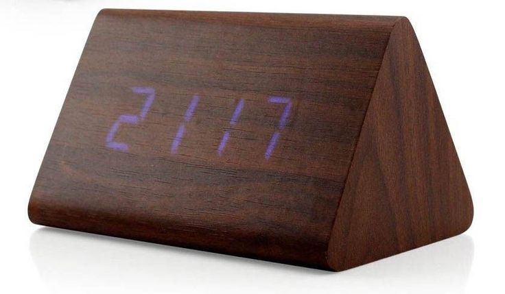 Modern Wood Digital LED Desk Alarm Clock Thermometer Timer Calendar Decor | Home & Garden, Home Décor, Clocks | eBay!